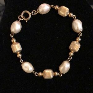 Gold and Pearl Bracelet